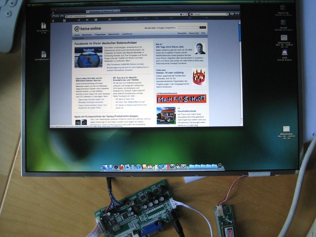 Ein iMac wird zum Monitor  9 Cent