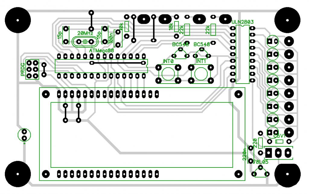 AVR-Mikrocontrollerplatine Layout